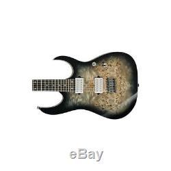 Ibanez RG Premium RG1121PB 6-String Electric Guitar, Charcoal Black Burst