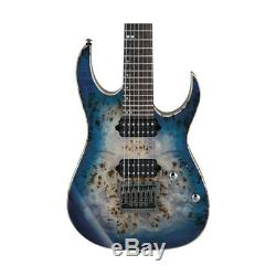Ibanez RG1027PBF 7-String Electric Guitar with Case Cerulean Blue Burst, New