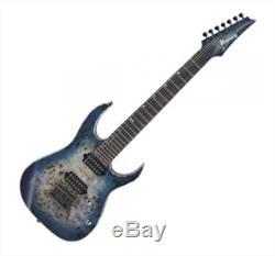 Ibanez RG1027PBF 7-Strings Basswood Cerulean Blue Burst Wizard 11pc Neck Gigbag