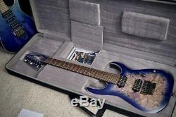 Ibanez RG1027PBF-CBB RG Premium Poplar Burl 7-String Cerulean Blue Burst Stainle
