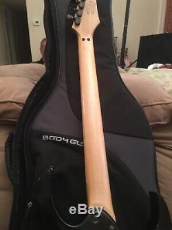 Ibanez RG370DXL Left Handed Sharkteeth 6 String Electric Guitar with Case Black