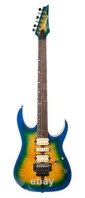 Ibanez RG6PFG RG Premium 6 String Electric Guitar in Geyser Blue Burst