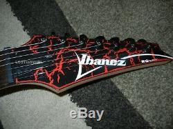 Ibanez RG7321 Red and Black Crackle Dimarzio Fixed Bridge RG JEM 7 String