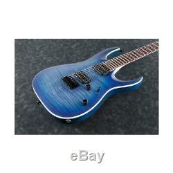 Ibanez RGA Standard RGA42FM 6-String Electric Guitar, Blue Lagoon Burst Flat
