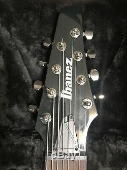 Ibanez RGIR28FE Iron Label, 8-string withEMG's, Black With Gator Case