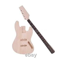 JAZZ Bass Style 4-String Electric Bass Solid Basswood Body DIY Kit Set Free Ship