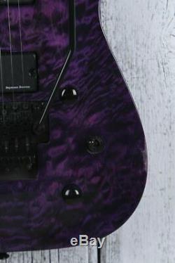 Jackson SLATXSDQ3-7 Soloist 7 String Electric Guitar w Floyd Rose Trans Purple