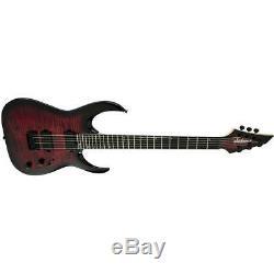 Jackson Signature Misha Mansoor Juggernaut HT6 FM 6-String Guitar, Scarlet Burst