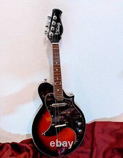 Kentucky electric electronic mandolin KM-300E solid body sunburst 4 strings f/s