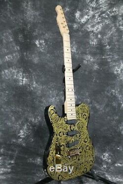 Lefthand TL Electric Guitar Maple Neck Fixed Bridge String Thru Body No Logo