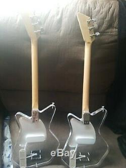 Lot of 2 Loog Pro LGPREL Lucite 3-Stringed Solidbody Electric Guitar Acrylic Clr