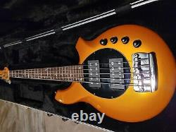 Music Man Bongo 5 String HH with Piezo Bridge Desert Gold Outstanding Condition