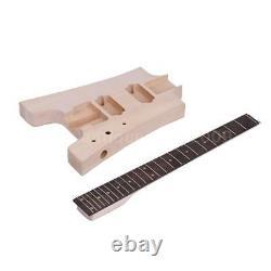 Muslady Unfinished DIY Electric Guitar Kit Basswood Body 6 String S9Z1