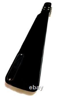 NEW HAWAIIAN LAP STEEL SLIDE 6 STRING ELECTRIC GUITAR GLOSS BLACK With GIG BAG