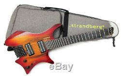 NEW Strandberg Boden J7 STANDARD Red Burst MIJ Headless 7String Tiger Wood Top