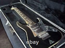Naughty boy electric Guitar Black 7 String Tremolo Abalone Pyramid Inlay