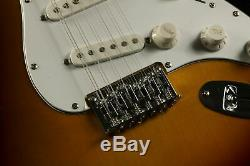 New 12 Strings ST Electric Guitar Basswood Body Strings Thru Body Sunburst Color
