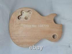 New 6 String Mahogany Solid Body Lp Style Electric Guitar Builder Kit