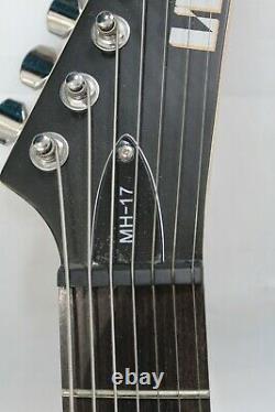 New ESP LTD MH-17 7-String Electric Guitar Satin Black With Soft Case
