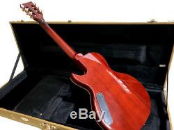 New Flame Maple 6 String Semi Hollow Little Sister-style Electric Guitar + Case