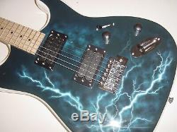 New Full Size 6 String Lightning Electric Guitar w Gig Bag HH
