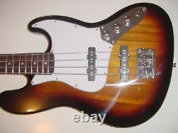 New Full Size Jazz Style 4 String Electric Bass Guitar Sunburst with Gig Bag