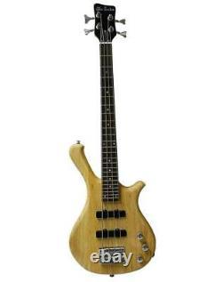 New Half Size 4 String Electric Bass Guitar Natural Satin Finish
