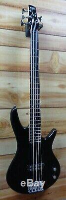 New Ibanez Gio GSR105EX 5 String Electric Bass Black