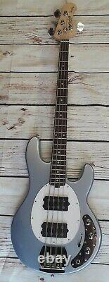SUB Ray4 HH Musicman bass guitar, active 4 string, satin maple neck, lake blue