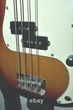 SX SPB62+/VWH Vintage Series 4 String Bass, Sunburst, Rosewood, Precision Pup