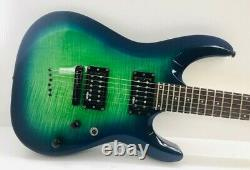 Schecter C-6 Elite Flame Maple Aqua Burst Electric Guitar 6-String Right Handed