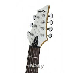 Schecter C-7 Deluxe 7-String Electric Guitar Rosewood Fretboard Satin White