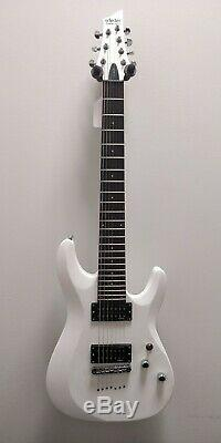 Schecter C-7 Deluxe Satin White 7 String Electric Guitar