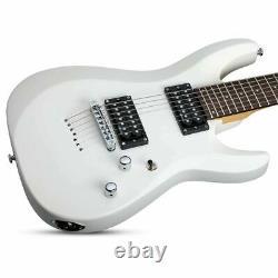 Schecter C-7 Deluxe Series 7-String Guitar Satin White