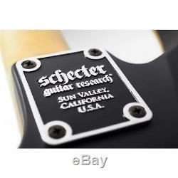 Schecter Demon-6 6-String Left-Handed Electric Guitar, Satin Black #3665