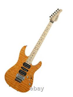 Schecter NV-3-24-AS AMB Maple Top & Ash Back New Original E. Guitar 6 String HSH