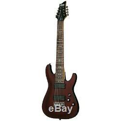 Schecter Omen-8 Walnut Satin WSN B-Stock 8-String Electric Guitar Omen8 Omen 8