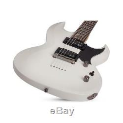 Schecter Omen S-II 6-String Solid Body Electric Guitar, Vintage White #2059