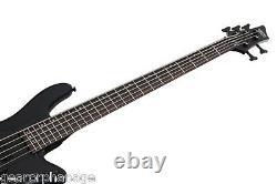 Schecter Stiletto Stealth-5 Satin Black SBK 5-String Bass + FREE GIG BAG