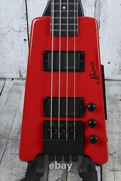 Steinberger Spirit XT-2 4 String Electric Bass Guitar Hot Rod Red with Gig Bag
