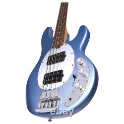 Sterling By MusicMan Stingray 4 HH In Lake Blue Metallic Finish 4 String Bass