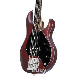 Sterling by Music Man Ray5 Stingray 5 String Bass, Walnut Satin