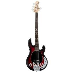 Sterling by Music Man SUB Ray4 4-String Electric Bass Ruby Red Satin Burst