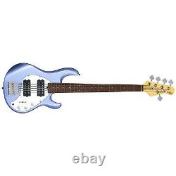 Sterling by Music Man SUB Ray5HH 5-String StingRay5 Bass Guitar, Lake Blue Metal