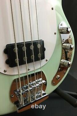 Sterling by Music Man StingRay Ray4 4-String Bass Guitar Mint Green Finish