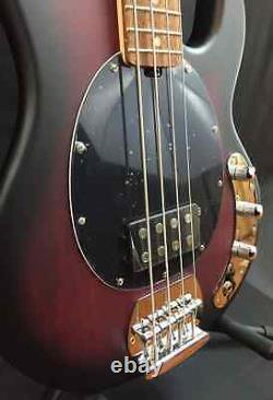 Sterling by Music Man StingRay Ray4 4-String Bass Guitar Ruby Red Burst Finish