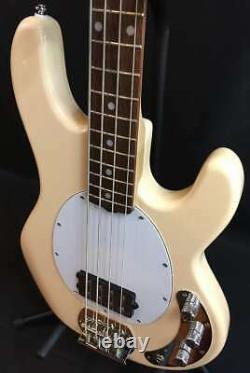 Sterling by Music Man StingRay Ray4 4-String Bass Guitar Vintage Cream Finish
