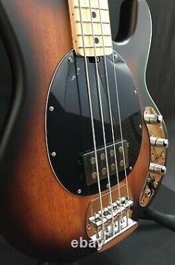 Sterling by Music Man StingRay Ray4 4-String Bass Guitar Vintage Sunburst Satin