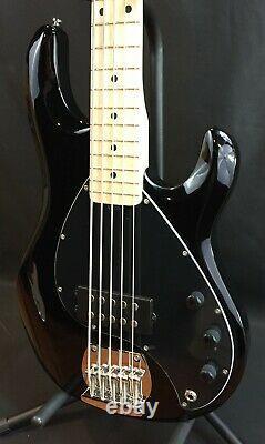 Sterling by Music Man StingRay Ray5 5-String Bass Guitar Gloss Black Finish