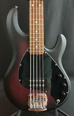 Sterling by Music Man StingRay Ray5 5-String Bass Guitar Ruby Red Burst Satin